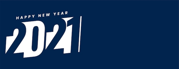Feliz año nuevo creativo en fondo blanco y azul vector gratuito