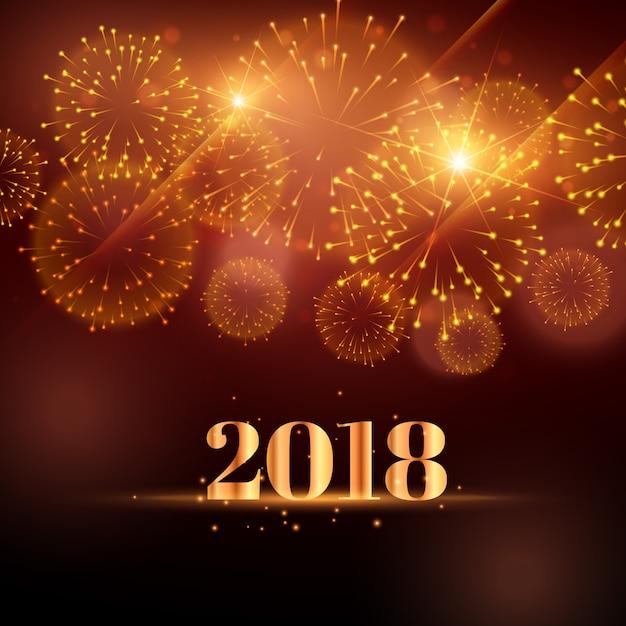 Feliz Ano Nuevo Fondo De Fuegos Artificiales Para 2018 Descargar