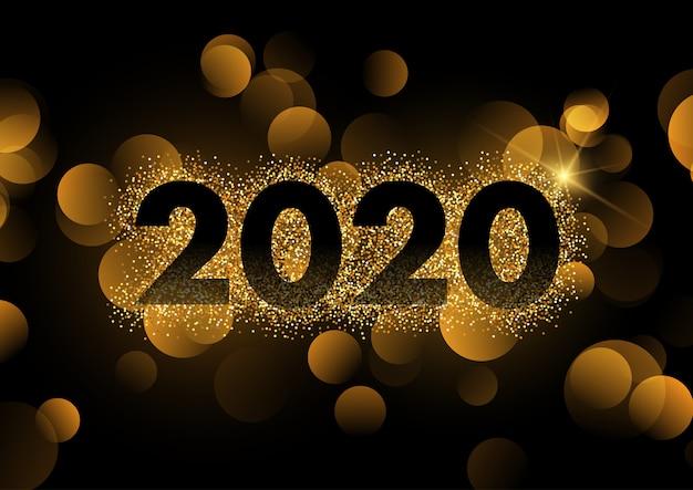 Feliz año nuevo fondo vector gratuito