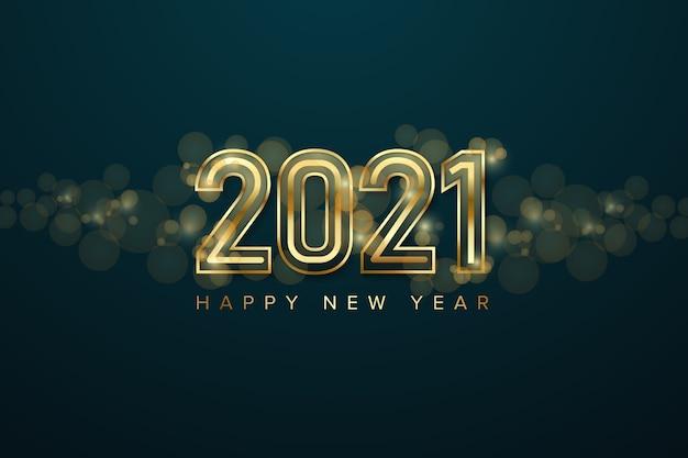 Feliz año nuevo fondo Vector Premium