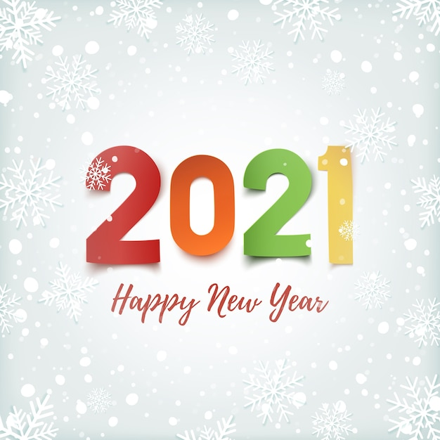 Feliz año nuevo ilustración Vector Premium