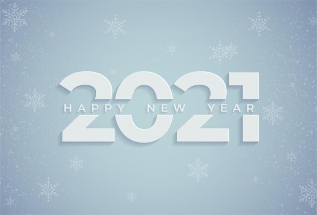Feliz año nuevo y navidad 2021 Vector Premium