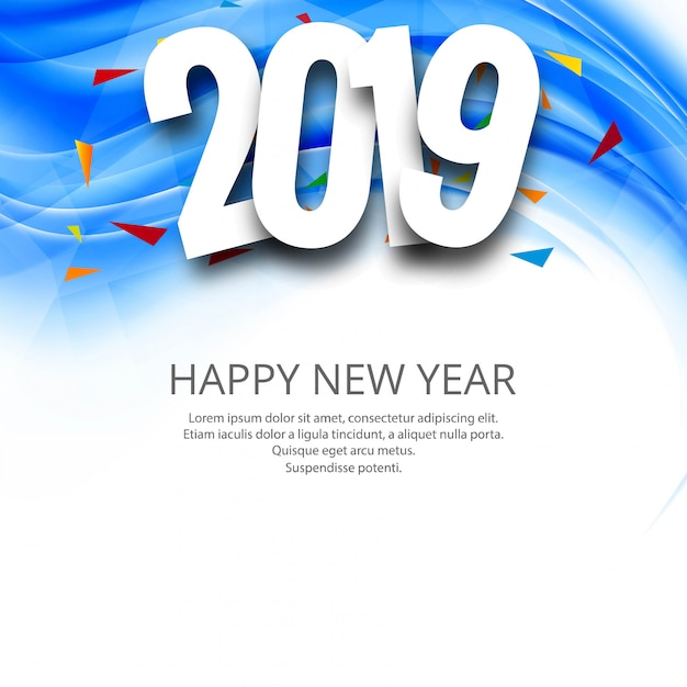 Feliz año nuevo vector gratuito