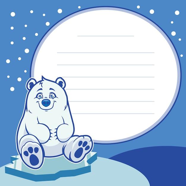 Feliz bebé oso polar   Descargar Vectores Premium