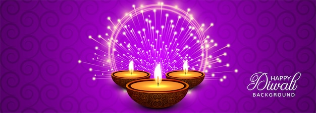 Feliz celebración de diwali encabezado o banner de redes sociales vector gratuito