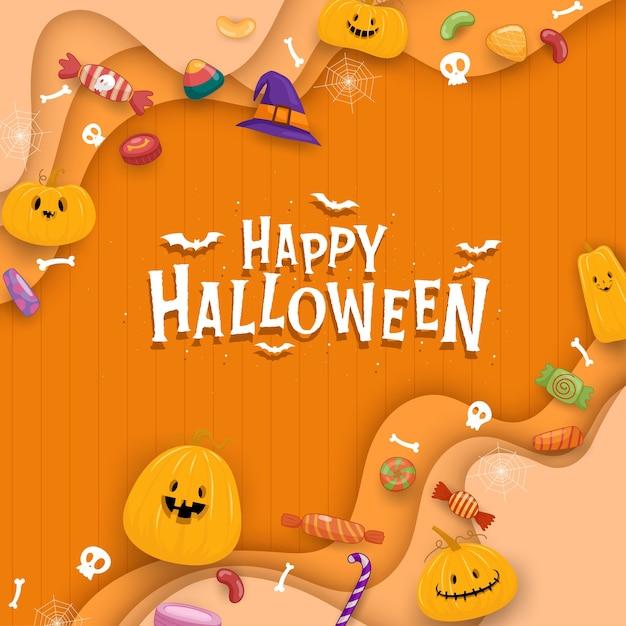 Feliz celebración de halloween vector gratuito