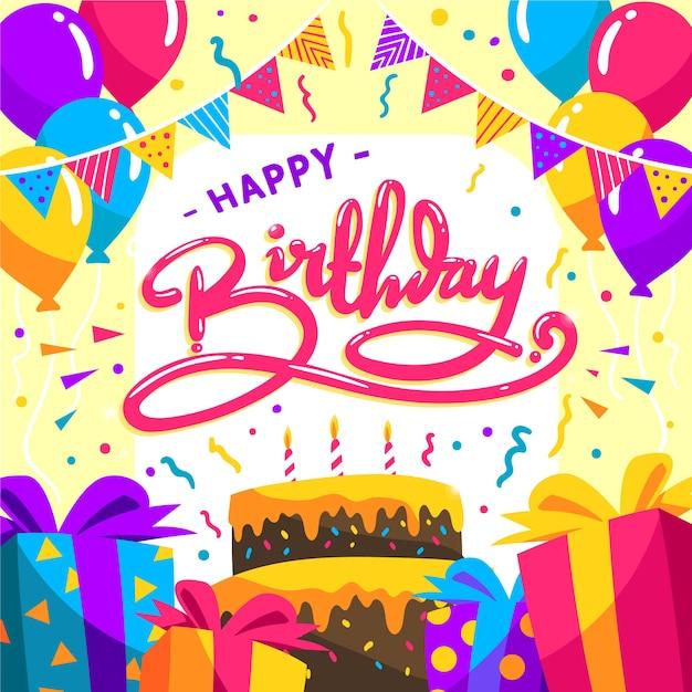 Feliz cumpleaños, concepto vector gratuito