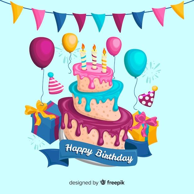 Feliz cumpleaños vector gratuito