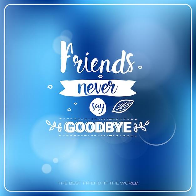 Feliz día de la amistad logo tarjeta de felicitación amigos banner de vacaciones Vector Premium