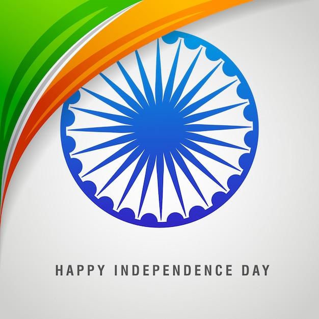Feliz día de la independencia india tarjeta Vector Premium