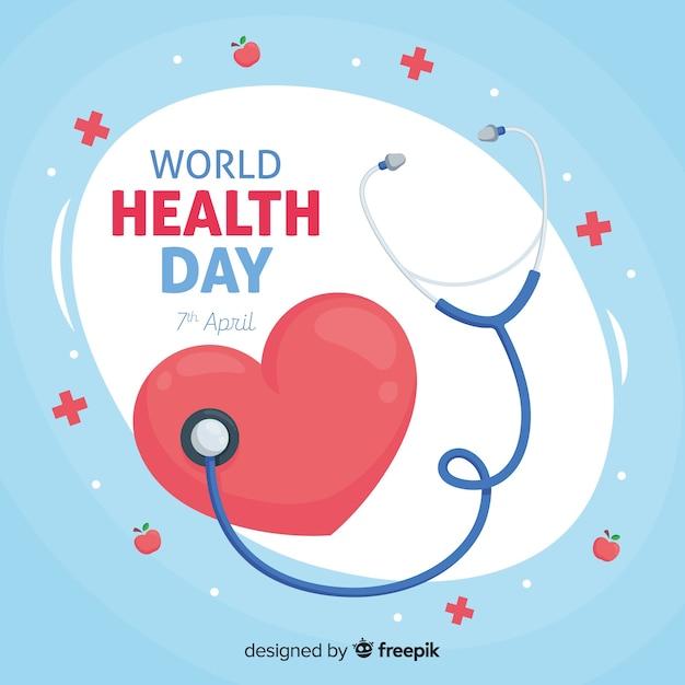 Feliz dia internacional de la salud vector gratuito