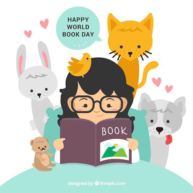 Feliz Día Del Libro Descargar Vectores Gratis
