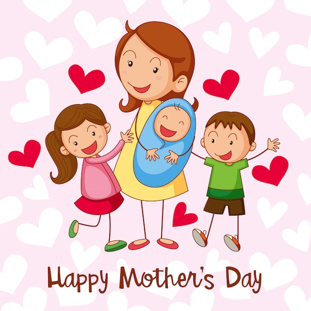 Feliz dia de la madre vector gratuito