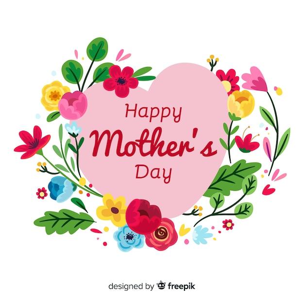 Feliz día de la madre vector gratuito