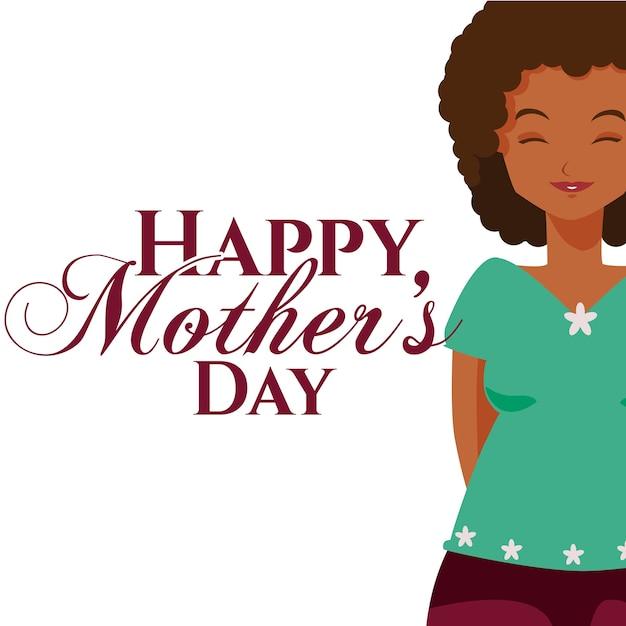 Feliz Día De Las Madres De Dibujos Animados Descargar Vectores Premium