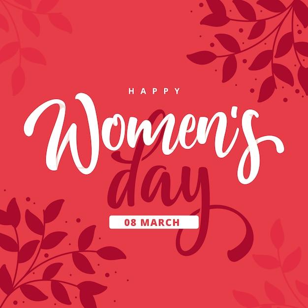 Feliz día de la mujer en diseño plano vector gratuito
