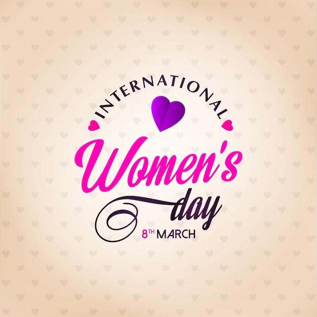 Feliz Día De La Mujer Con Fondo Claro Descargar Vectores Gratis