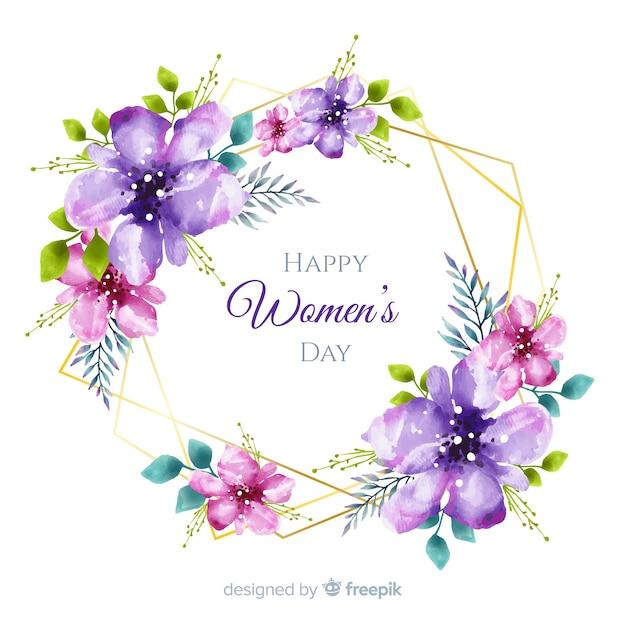 Feliz día de la mujer vector gratuito