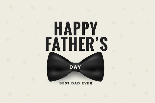 Feliz día del padre con diseño de lazo realista vector gratuito