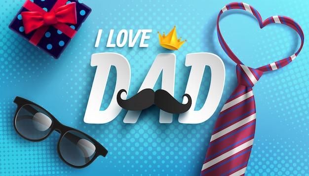 Feliz día del padre ilustración Vector Premium