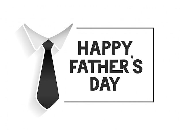 Feliz dia del padre plantilla vector gratuito