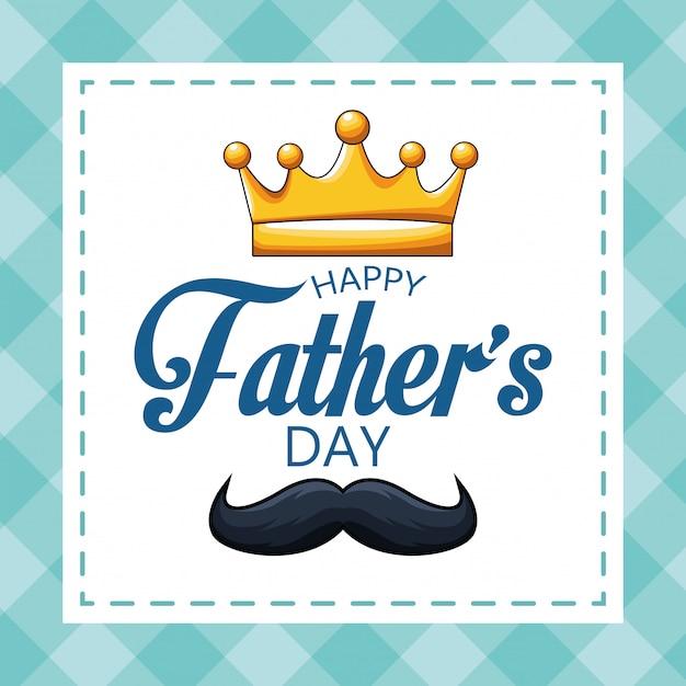 Feliz dia del padre Vector Premium