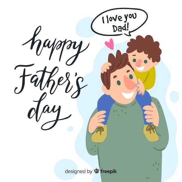 Feliz día del padre vector gratuito