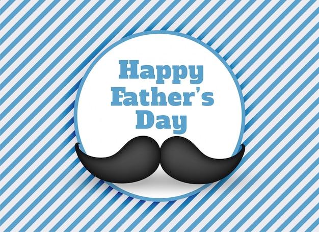 Feliz día de padres fondo de bigote vector gratuito