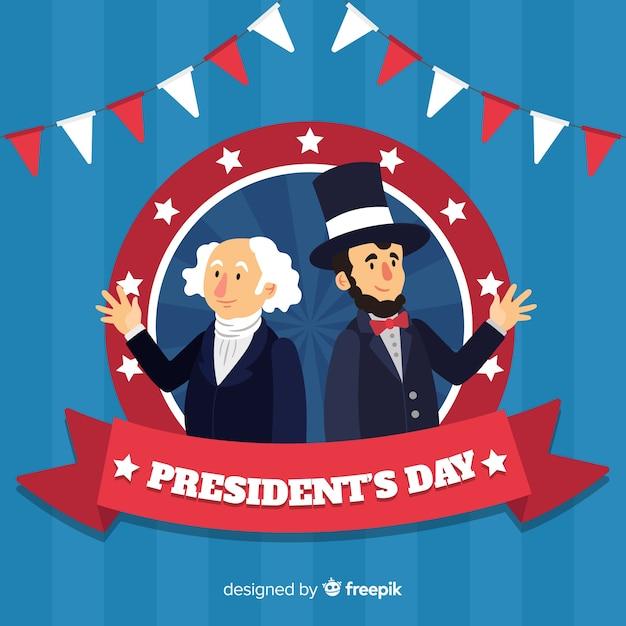 Feliz día del presidente vector gratuito