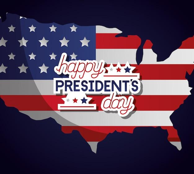 Feliz dia de los presidentes vector gratuito