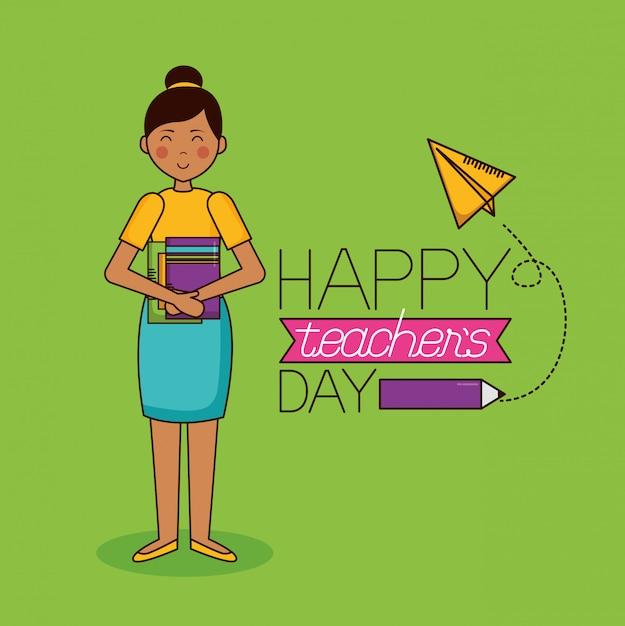 Feliz día del profesor vector gratuito