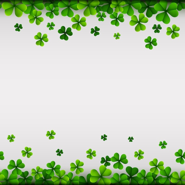 Feliz día de san patricio fondo con hojas de trébol   Descargar ...