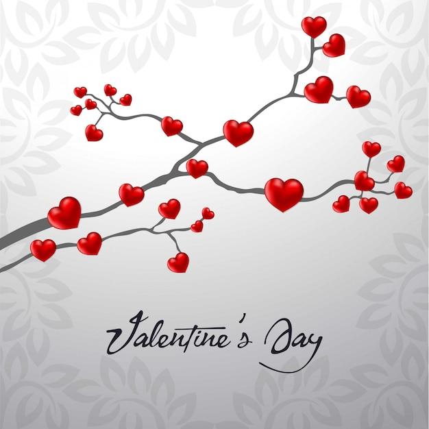 Feliz dia de san valentin corazon vector gratuito