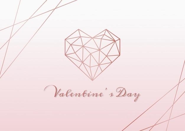Feliz día de san valentín fondo rosa Vector Premium