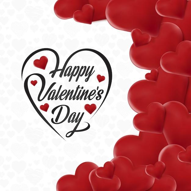 Feliz día de san valentín tarjeta con corazones | Descargar Vectores ...