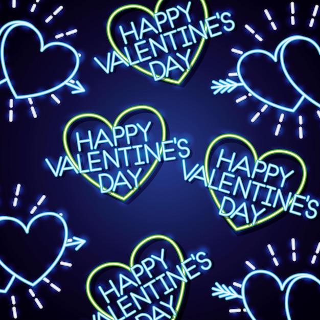 Feliz día de san valentín Vector Premium