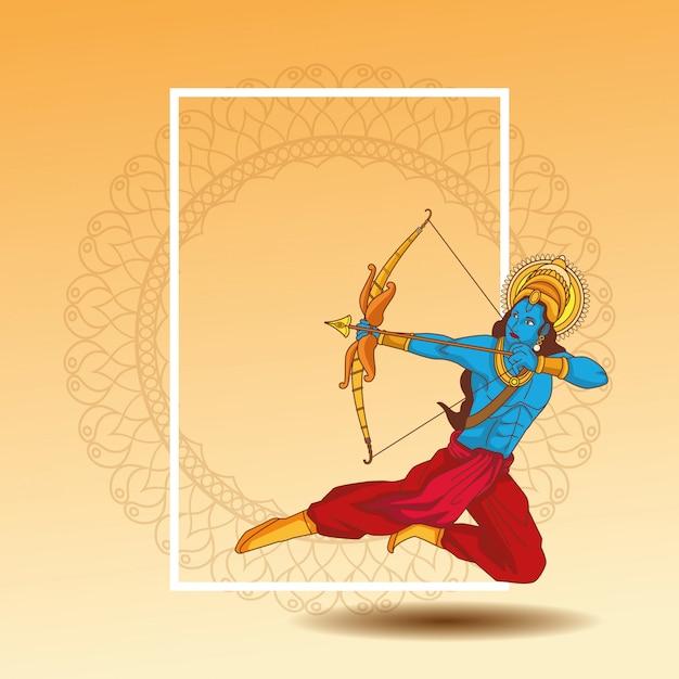 Feliz festival dussehra de india Vector Premium