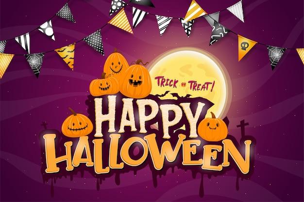 Feliz fiesta de celebración de halloween vector gratuito
