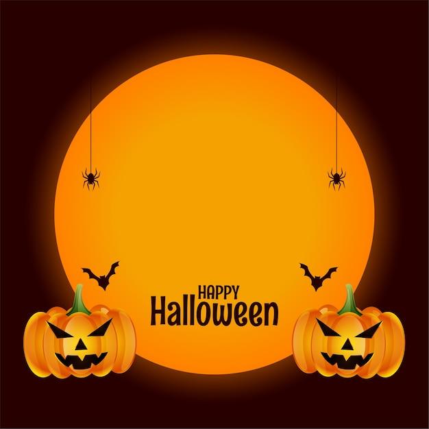 Feliz halloween con diseño de espacio de prueba vector gratuito