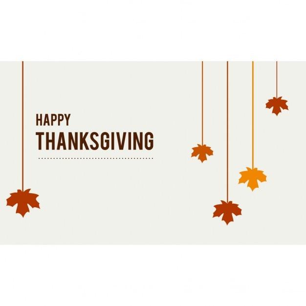 Feliz hojas colgantes de gracias Vector Gratis