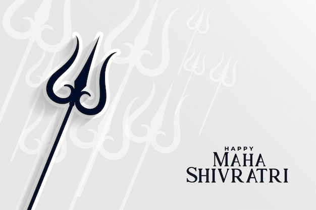 Feliz maha shivratri hindú tradicional festival de fondo vector gratuito