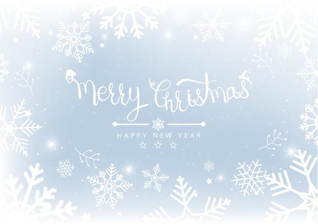 Feliz navidad y año nuevo blur bokeh Vector Premium