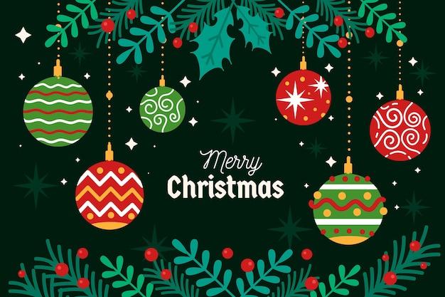 Feliz navidad concepto de fondo Vector Premium