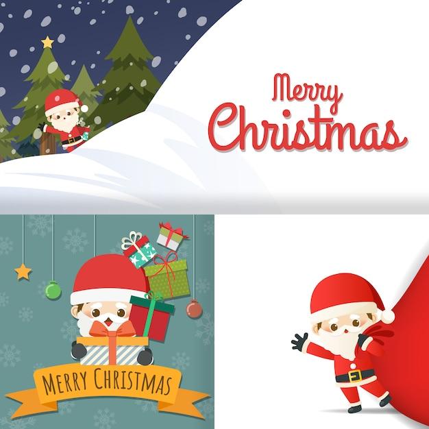 Felicitaciones De Navidad 2019 Animadas.Feliz Navidad Con Conjunto De Tarjeta De Felicitacion