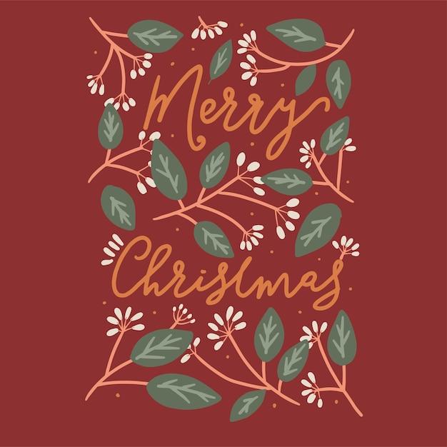 Feliz navidad estilo art deco Vector Premium