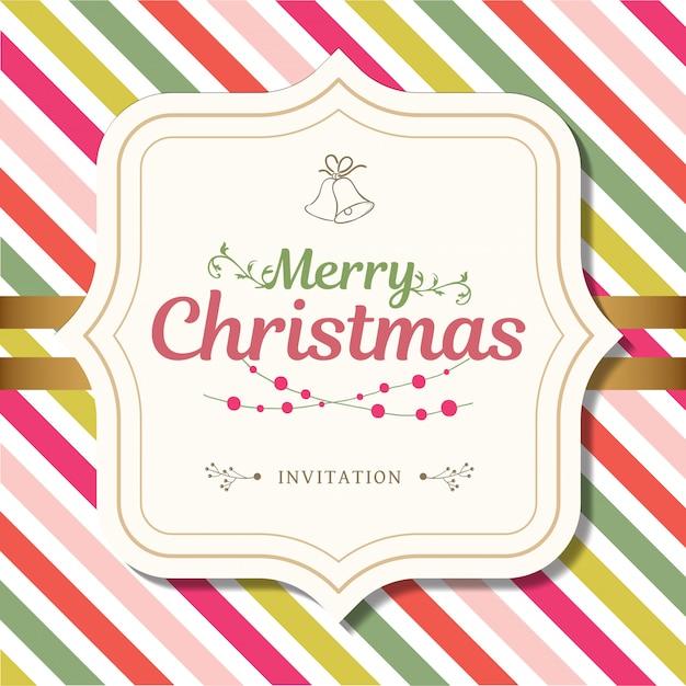 Feliz Navidad Y Feliz Año Nuevo En El Diseño De La Tarjeta