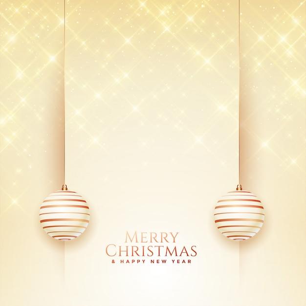 Feliz navidad y feliz año nuevo tarjeta de felicitación vector gratuito