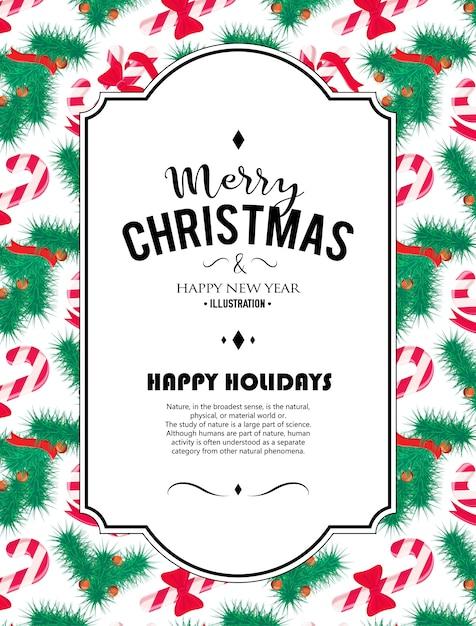 Feliz Navidad De Fondo Elemento De Decoración Perfecto Para