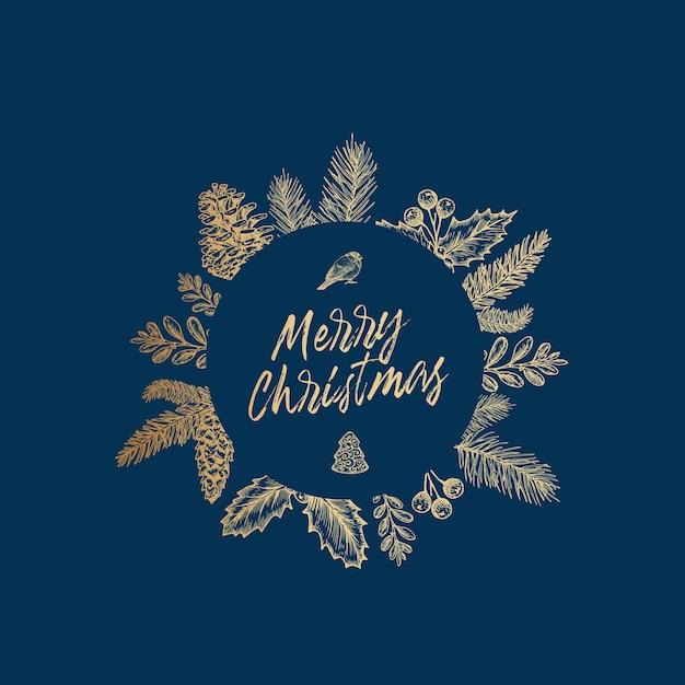 Feliz navidad, ilustración vector gratuito