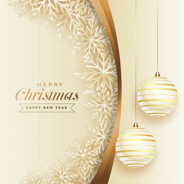 Feliz navidad y próspero año nuevo vector gratuito